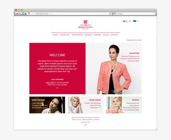 Maria Pucci Couture website screen grab